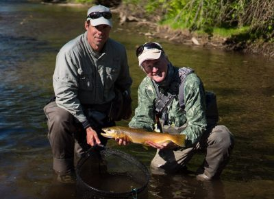A big brown caught Euro Nymphing on the Credit River