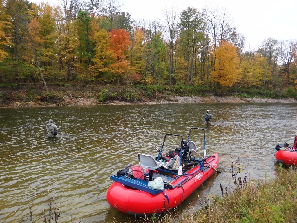 An Ontario Steelhead river called the Saugeen River