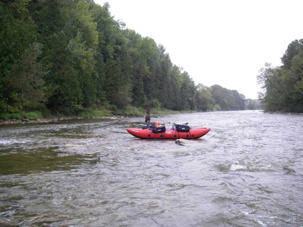 The lower Saugeen river near Walkerton