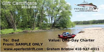 Ontario fishing guide gift certificate