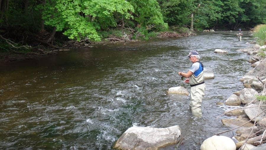 Anglers on a 4 hour trout trip
